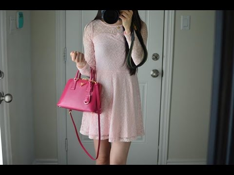 OOTD feat. the Prada Promenade Purse Bag (Patent Peony Pink) - YouTube