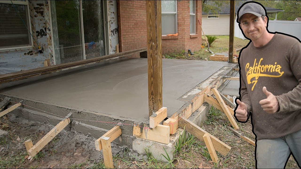 Pour A Concrete Slab Over 3 Porch Conversion Video You