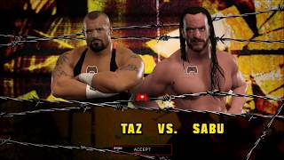 WWE 2K17 - SWE Top Matches - Tazz Vs Sabu