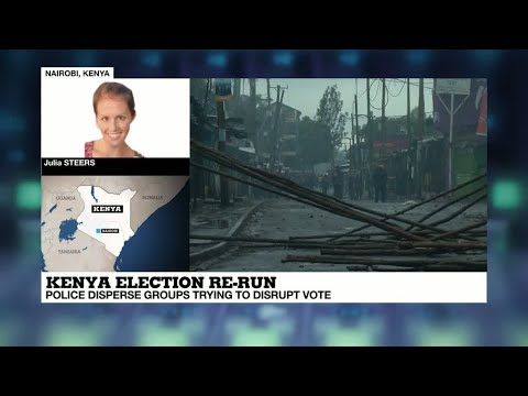 Kenya election: Tensions escalate in Nairobi's Kibera slums