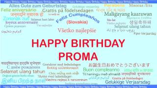 Proma   Languages Idiomas - Happy Birthday
