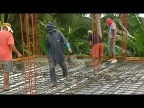 Building a house in Southern Leyte Philippines part 13. The 2nd floor concrete slab.