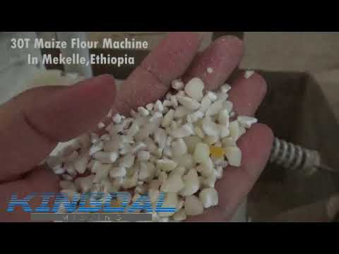 30T Maize flour mill machine in Mekelle,Ethiopia