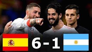 ЧТО ВЫТВОРЯЕТ ИСКО? ОБЗОР МАТЧА Испания 6:1 Аргентина / ГОЛЫ МАТЧА / Spain Argentina / 27.03.2018