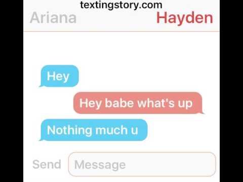 Romance texting story