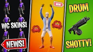 LEAKED Crab Rave Emote, Drum Shotgun Soon, World Cup Skins, New Event Propaganda! (Fortnite News)