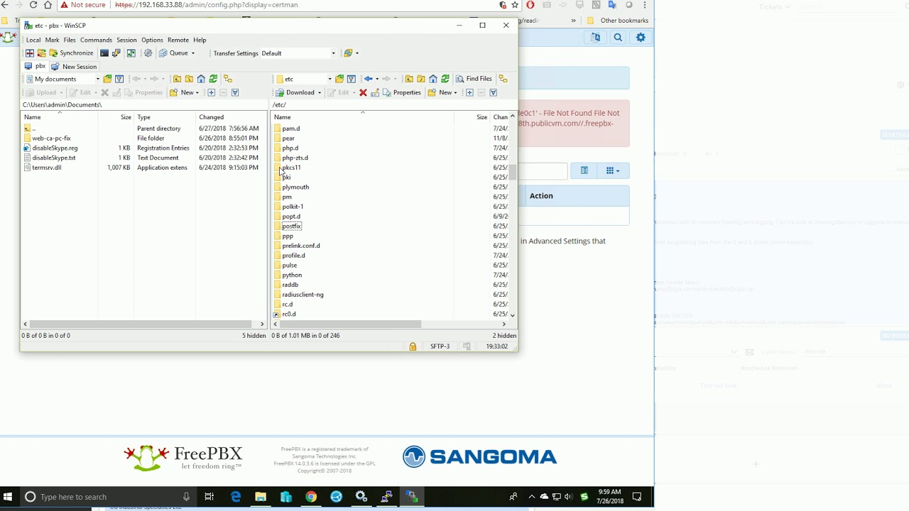 How to configure SMTP on Freepbx 14 server to send emails