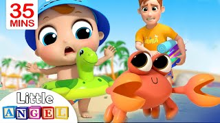 Fun Day at the Beach | Sea Animal Song | Little Angel Kids S...