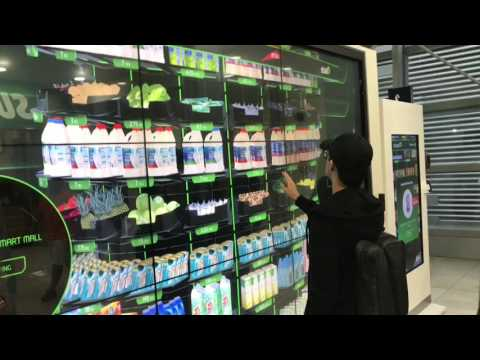 E-grocery shopping in Dubai on the World's biggest touch screen LCD panel!