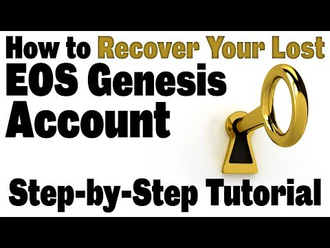 🔵 How To Recover Your Lost EOS Genesis Account(Step-by-step Walk-through To Swap Key Using ETH Key)
