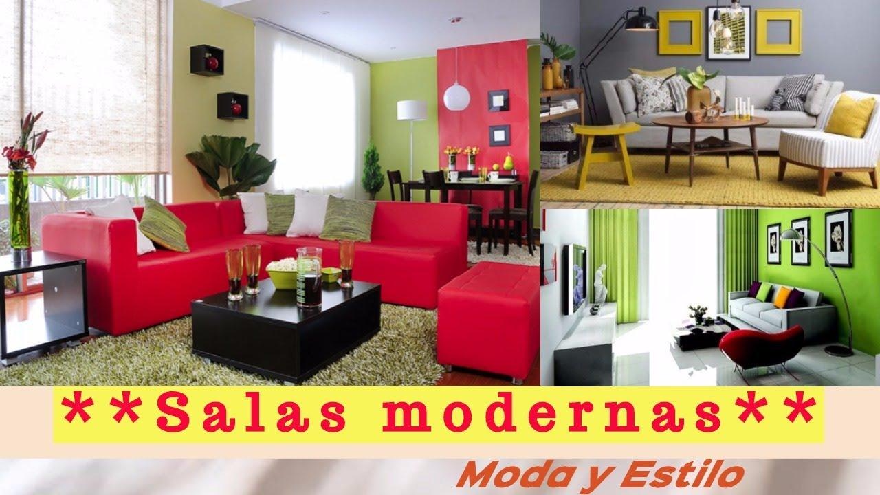 decoracion de salas modernas youtube On salas decoradas modernas
