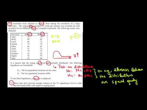 STATISTICS I How To Perform A Sign Test I Test On Distributions I Example 1