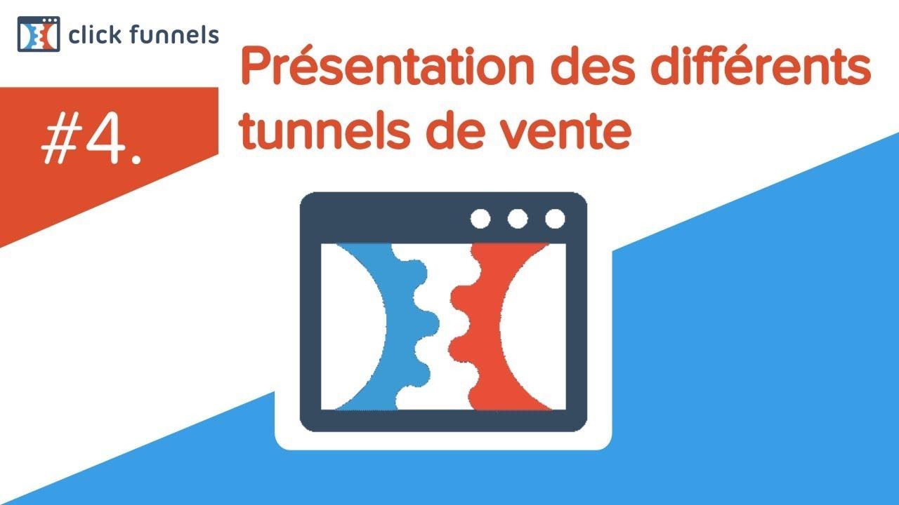 4. Présentation des différents tunnels de vente de Clickfunnels