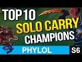 Top 10 SOLO CARRY Champions In League of Legends Also 300k Subs Giveaway