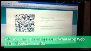 Mulher ciumenta ensina a usar WhatsApp Web