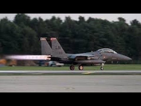 Glorious Sounding F-15 Eagle Afterburner Takeoffs.