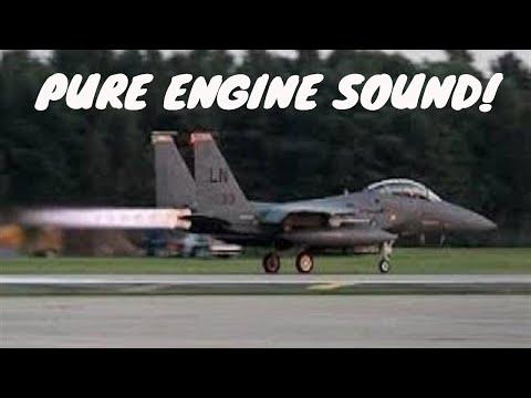 Glorious Sounding F-15 Eagle Afterburner Takeoffs.