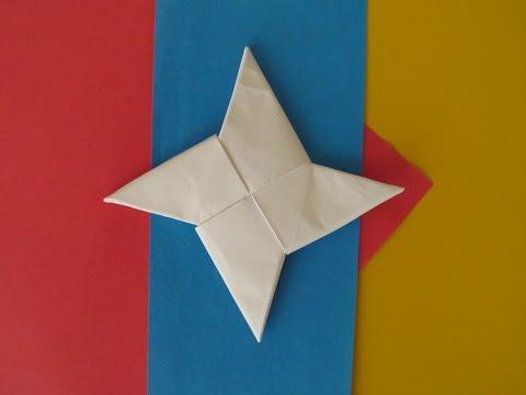 ЗВЕЗДА НИНДЗЯ ОРИГАМИ - Сюрикен из Бумаги/How To Make a Paper Ninja Star (Shuriken) - Origami