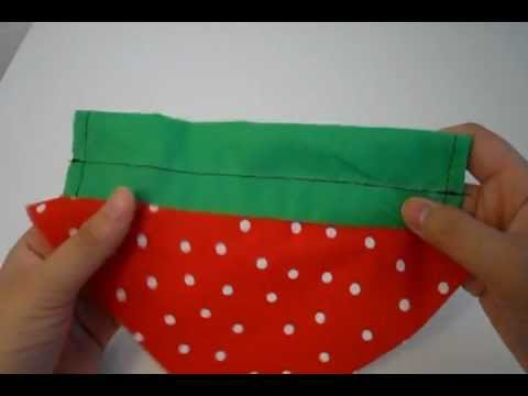 DIY foldable strawberry shoppers tote