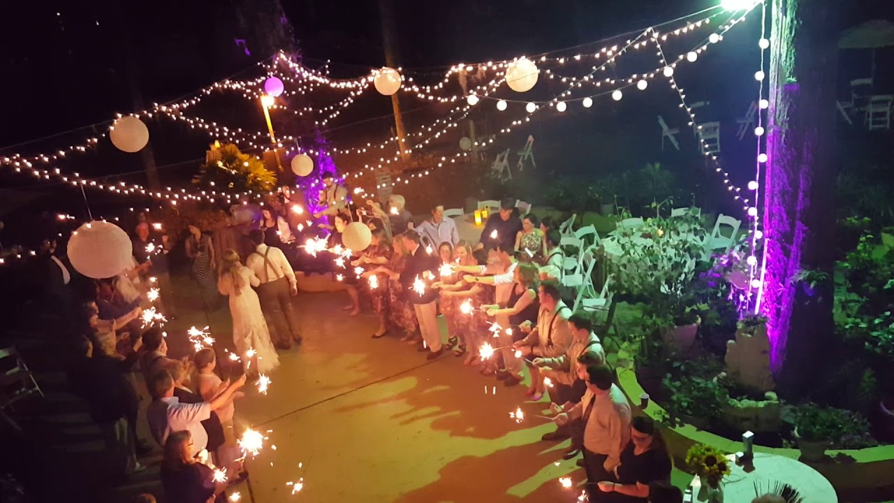 Outdoor Wedding Reception Night Party - YouTube