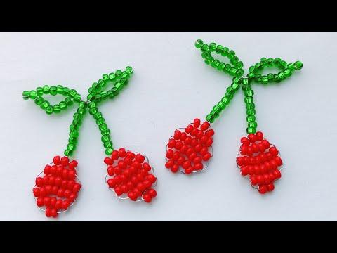 Как сплести ВИШНЮ из бисера в технике параллельное плетение