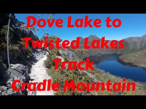 Hiking Dove Lake to Twisted Lakes Track, Cradle Mountain