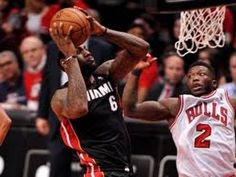 nate robinson blocks lebron james round 2 game 3 2013