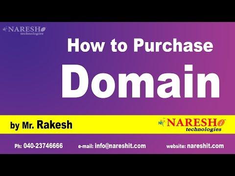 How to Purchase Domain | Digital Marketing Tutorials | by Mr.Rakesh