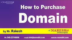 How to Purchase Domain | Digital Marketing Tutorials | by Mr.Rakesh