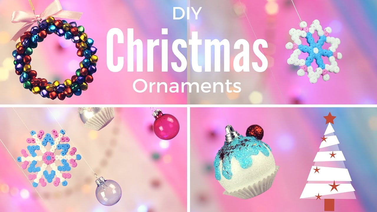 diy cute easy christmas ornaments youtube - Cute Homemade Christmas Decorations