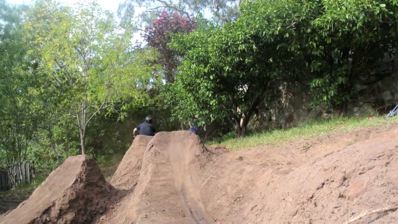 Back yard dirt jumps! - YouTube