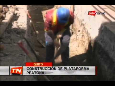 Construcción de plataforma peatonal