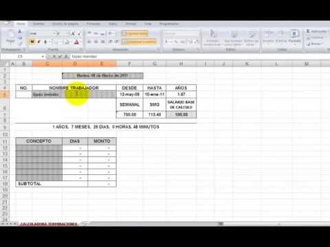 Liquidaciones De Sueldo Excel Doovi