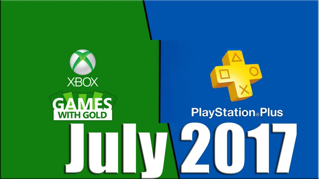 Xbox Live Gold Vs Playstation Plus July 2017 Free