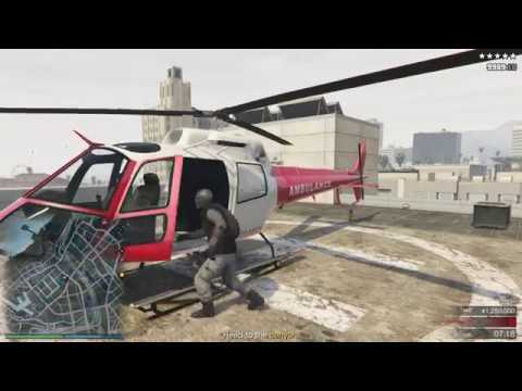 Police Helicopter  STILL WORKING 1.40 The Pacific Standard Job: Helicopter method (GTA 5 Online)