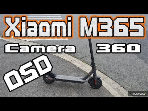 Xiaomi Scooter M365 Long City ride with 360 4K Camera & OSD & BIKIGHT Tires