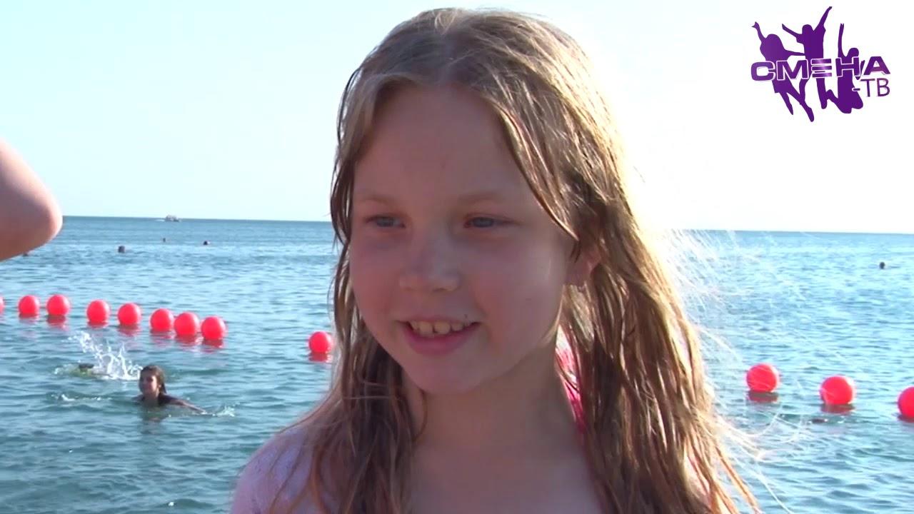 Отдых девченок на море видео