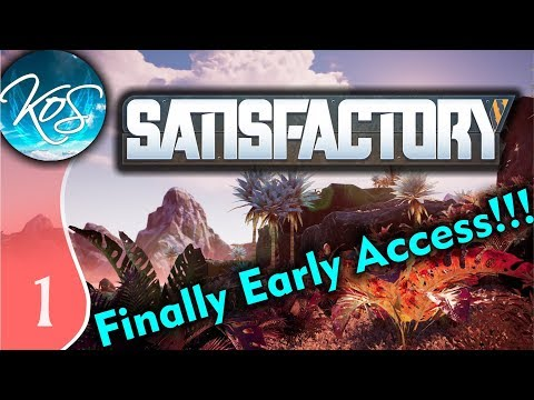 Satisfactory Ep 1: BLINDED BY DESERT BEAUTY - Early Access / Desert Beauty - Let's Play, Gameplay
