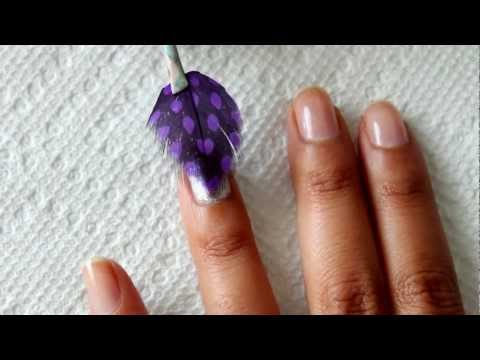 Feather Nails Tutorial   Dee2102