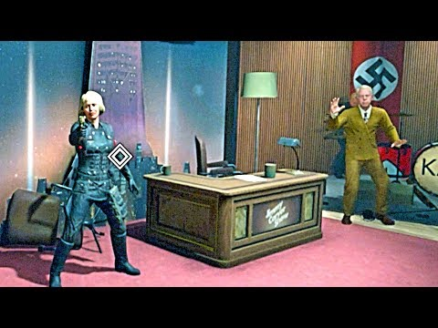 WOLFENSTEIN 2 THE NEW COLOSSUS General Engel Kills Blazkowicz at the TV Interview