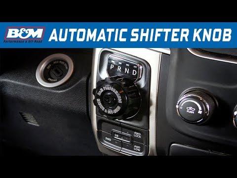JGR Auto Trans Shift Lever Knob at Shift Knob for 13-18 Ram 1500 Black