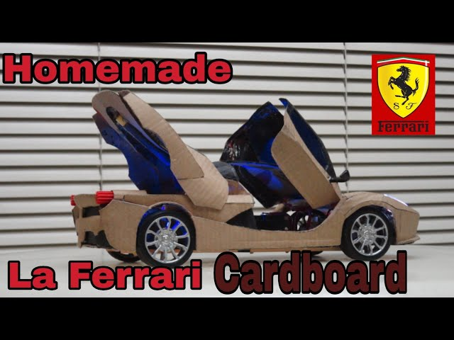 How To Make Ferrari Rc Cardboard Automatic Scissor Door Trunk Youtube