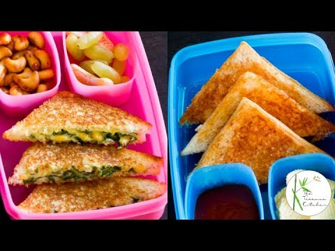 2 Sandwich Recipes For Kids Lunchbox | Corn Spinach Sandwich | Aloo Mayo Sandwich~ Dabba Party S1 E3
