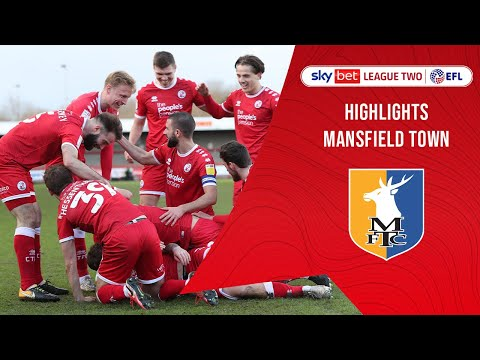 Crawley Town Mansfield Goals And Highlights