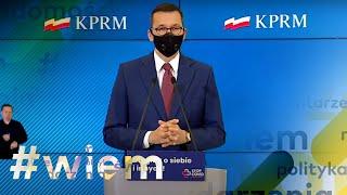 Koronwirus w Polsce i Strajk Kobiet. Konferencja prasowa Mateusza Morawieckiego