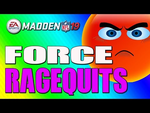 HOW TO FORCE RAGE QUITS IN MADDEN 19!! THE BEST LOCKDOWN DEFENSE!