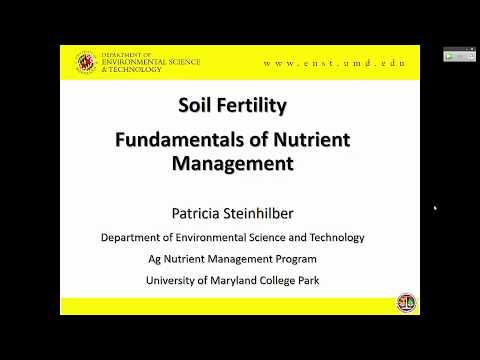 Soil Fertility - Fundamentals of Nutrient Management 2017