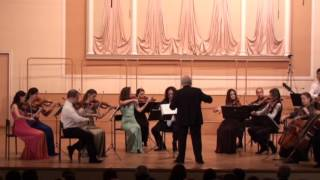 Gnessin Music College Hall, Moscow Dec. 31, 2015  Petrov Valse from Beware of the Car/Rachlevsky/RSO