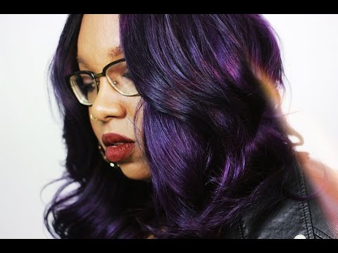 purple reign coloring hair