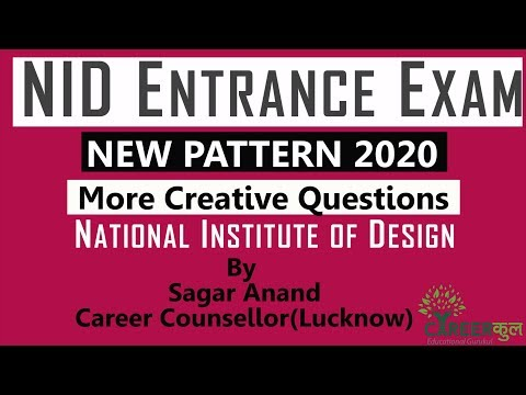 NID Entrance Exam|Types of Questions|New Pattern 2020|Career Counselling in Lucknow